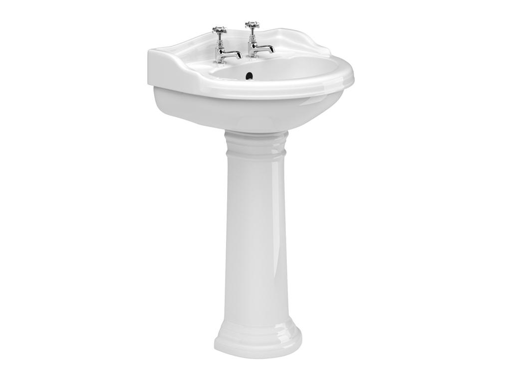 Kent 600mm Basin Amp Pedestal Mylife Bathrooms