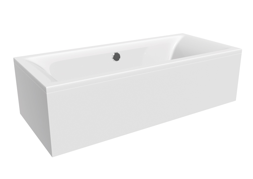 2 Piece Adjustable Panels White Gloss   MyLife Bathrooms