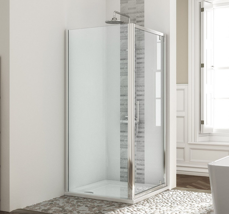 Pivot Door With Side Panel Mylife Bathrooms