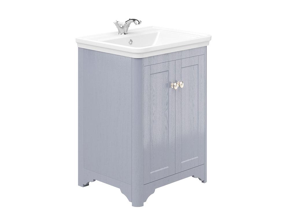 Oxford 600mm 2 Door Floor Unit Denim Ash  sc 1 st  MyLife Bathrooms & Oxford 2 Door 1 Drawer Tall Boy Denim Ash | MyLife Bathrooms