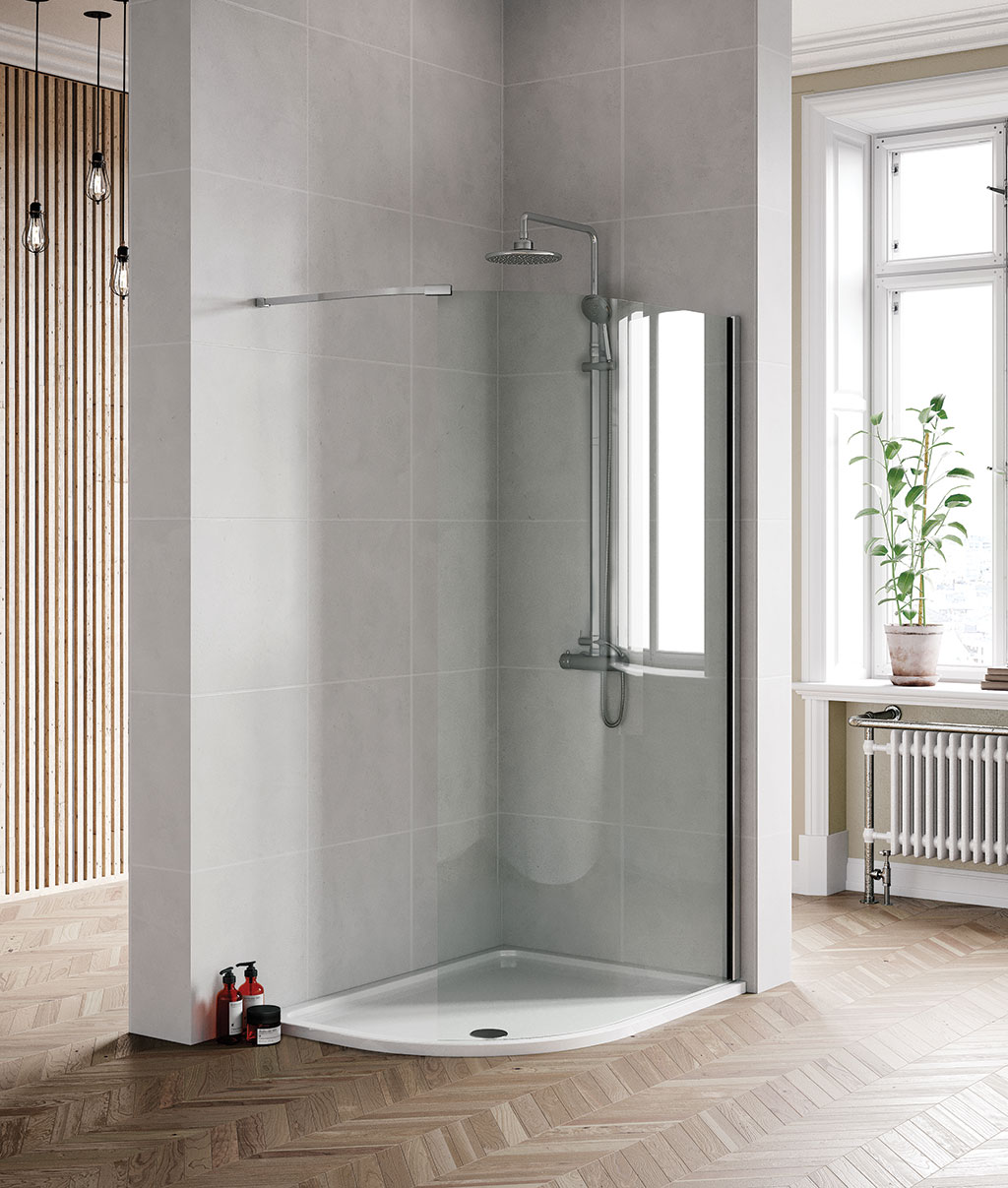 Be Curved Wetroom Panel Mylife Bathrooms